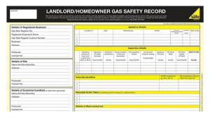 CP12 Landlord Certificate