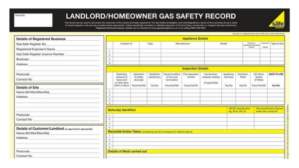 CP12 Landlord Certificate