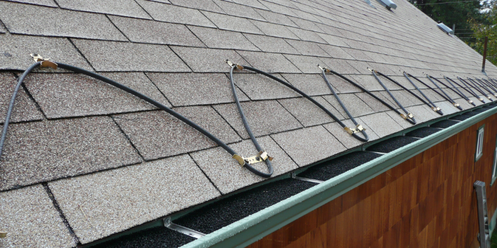 Roof and gutter de-icing